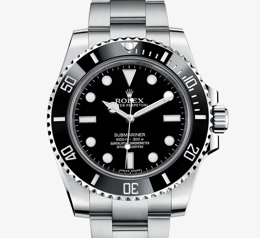 Rolex Oyster Perpetual Submariner in Black, 40mm, Steel.