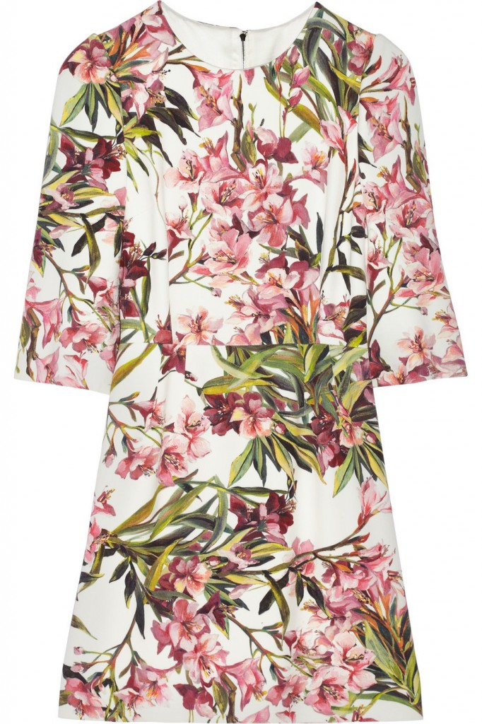 Dolce & Gabbana floral mini-dress  in twill