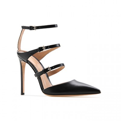 Carey Black Leather Pointy is an insanely gorgeous pump crafted in Italy by Gianvito Rossi