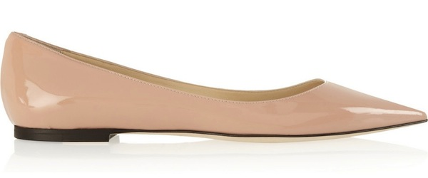 Jimmy Choo Pink Pointed Flat