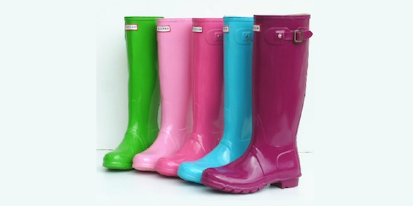 In bright spring colors to liven up any rainy day.