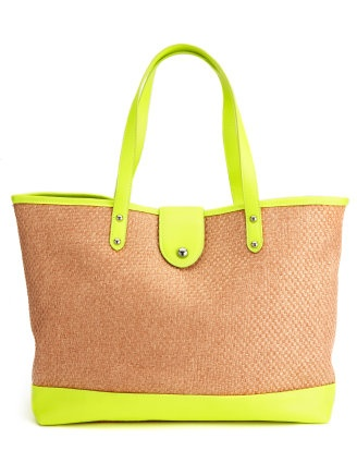 Charlotte Russe Straw Beach Tote